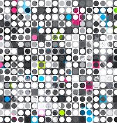 abstract grunge circle seamless texture vector image vector image
