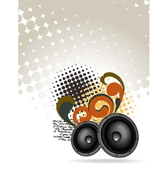 abstract speakers design vector image vector image