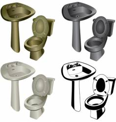 bathroom hardware vector image vector image