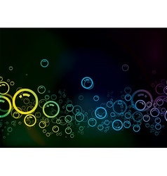 bubble background vector image vector image