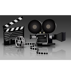 Camera with movie vector image vector image