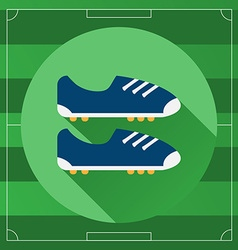 Classic soccer boots round icon vector