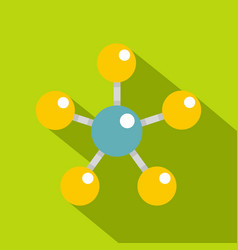 colorful molecule structure dna icon flat style vector image vector image