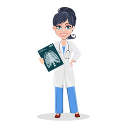 Doctor woman professional medical staff vector