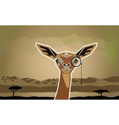 Funny african animal antelope vector