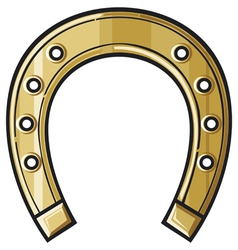 Gold horseshoe vector