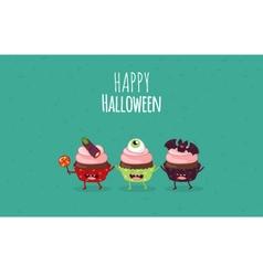 Halloween cake vector