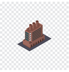 Isolated factory isometric industry vector