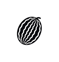 isolated muskmelon icon melon element can vector image
