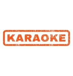 Karaoke rubber stamp vector