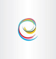 letter e colorful symbol vector image