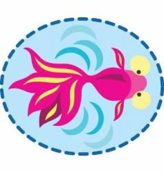 oriental fish swimming vector image vector image