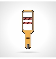 Positive pregnancy test flat icon vector