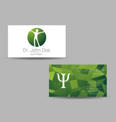 Psychology visit card modern sign vector