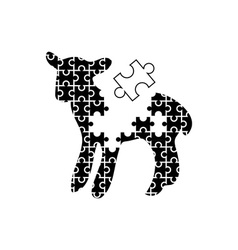 Puzzle-Lamb-380x400 vector image vector image