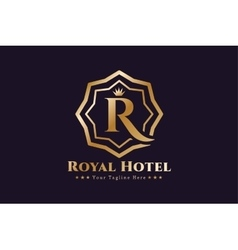 Royal logo template hotel vector image vector image