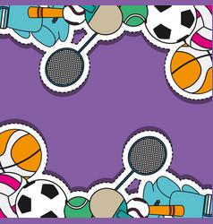 Sport sticker patch background design vector