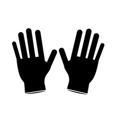 Surgery glove clean medical pictogram vector