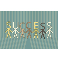 Team work to success vector