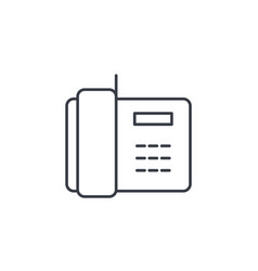 telephone office phone thin line icon linear vector image