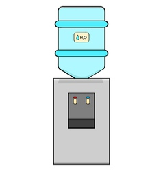 Water cooler vector