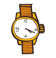 wristwatches clipart color on a white background vector image vector image