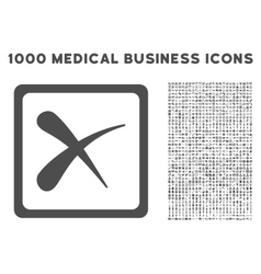 Reject icon with 1000 medical business pictograms vector