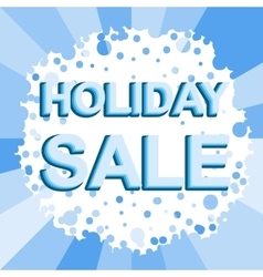 Big winter sale poster with holiday sale text vector