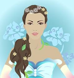 Beauty girl vector