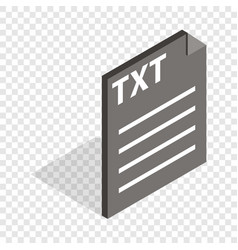 Document file format txt isometric icon vector