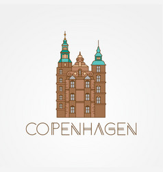 Rosenborg castle the symbol of copenhagen vector