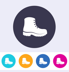Protective footwear must be worn icon vector