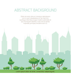Eco city concept background - modern city vector