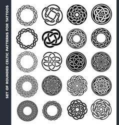 celtic circles and rings for tattoo design vector image