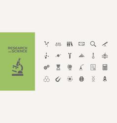 Twenty five science icons set vector