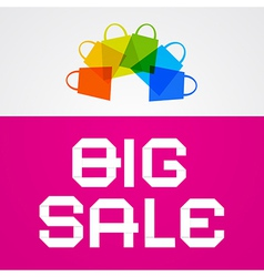 Big sale paper title on pink background with vector