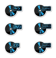Icons optical disc vector