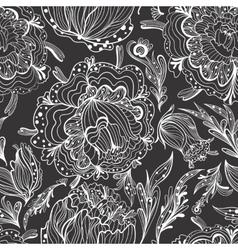 Sketch Ornamental Floral Pattern vector image