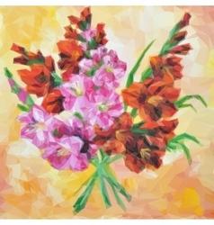 Gladiolus Flowers Painting vector image