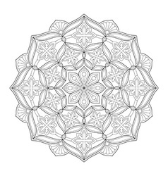 Mandala ornament 63 vector