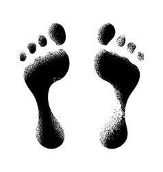 Human footprints vector