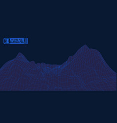 alien mountain net darkly blue landscape for an vector image