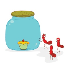 Ants and cake vector