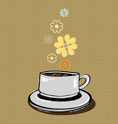 aroma coffee banner vector image vector image