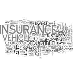 Auto insurance text word cloud concept vector