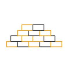 bricks wall isolated icon vector image