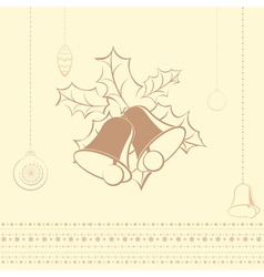 Card with bells vector image vector image
