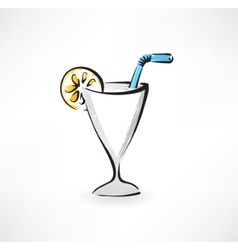 cocktail grunge icon vector image