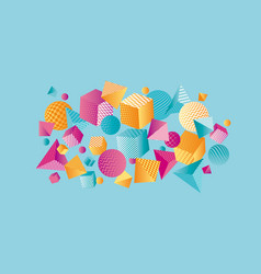 Concept color 3d geometric composition vector
