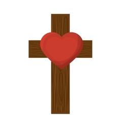 cross religious symbol icon vector image vector image